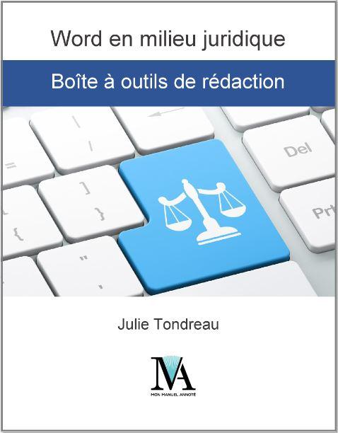 Word en milieu juridique - Boîte à outils de rédaction